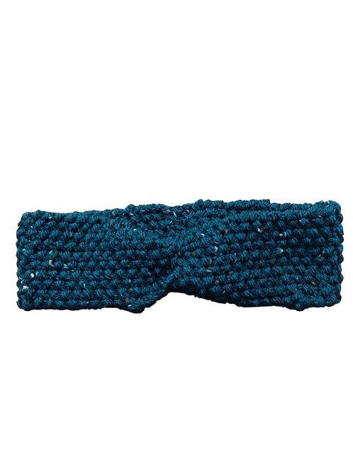 Bandeau en laine (bleu canard)
