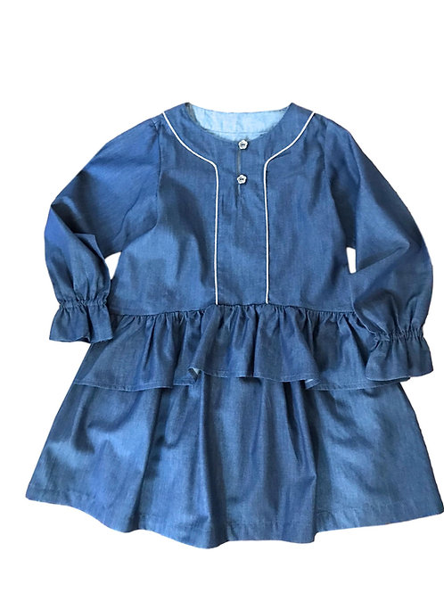 Robe Chloé (Chambray bleu jean)