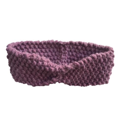Bandeau épais en laine  (brun rosé)