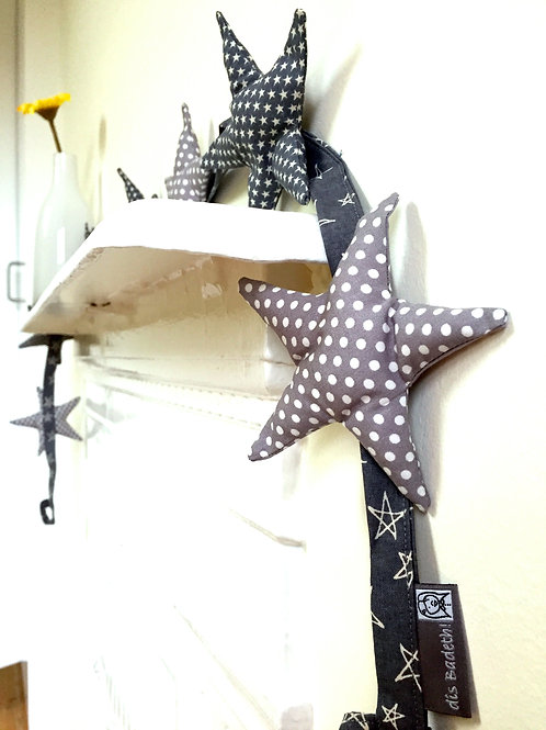 Guirlande étoiles (grey stars/white dots)