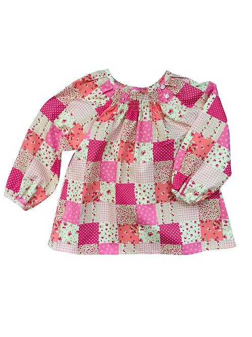 Blouse Manon (patchwork rose)