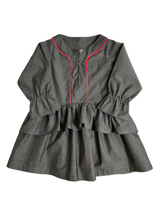 Robe Chloé (Chambray gris)