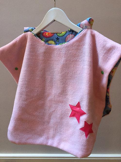Poncho à capuche (pink fleece/han blue)