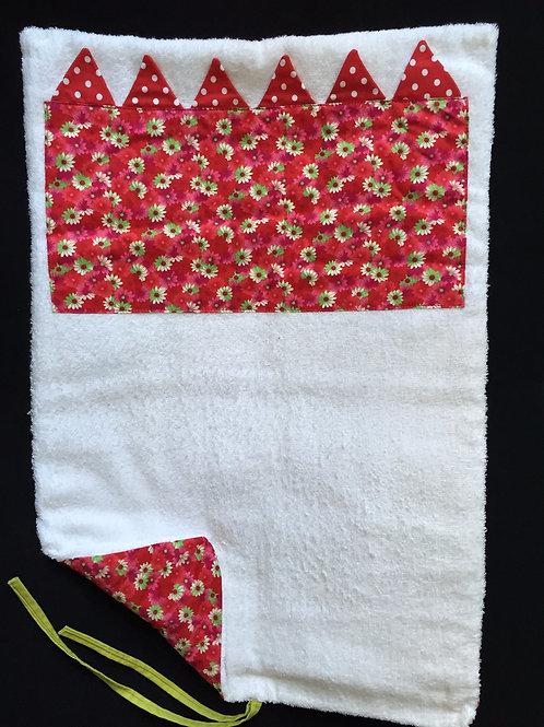 Tapis à langer (red flowers)