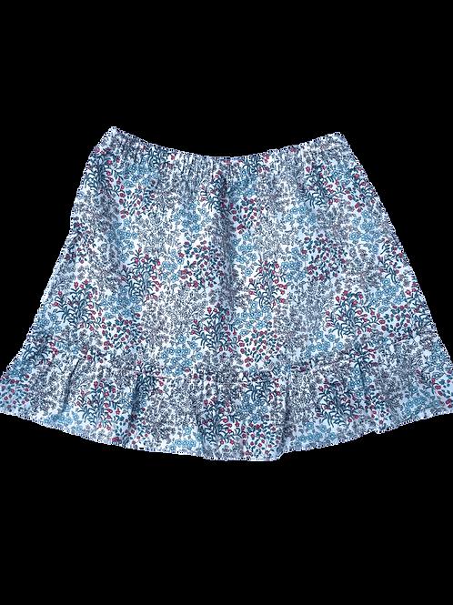 Jupe Lucie (fleuri bleu)