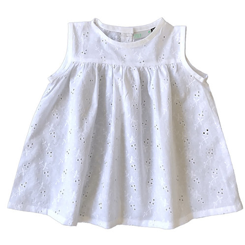 Blouse Lina (broderie anglaise pétales blanc)