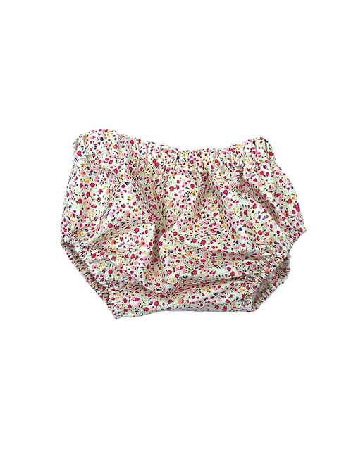 Culotte Bloomer 12/18M (fleuri rose)