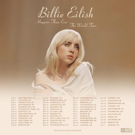Billie Eilish Announces Happier Than Ever World Tour