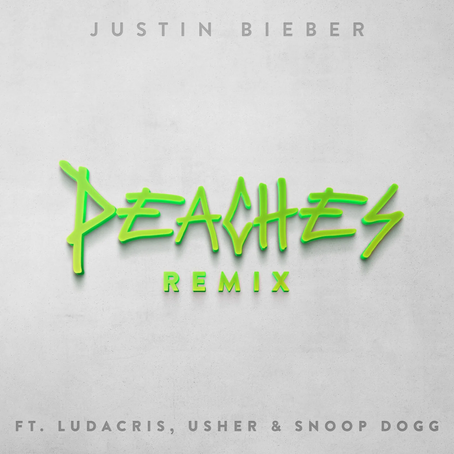 """Justin Bieber Drops """"Peaches"""" Remix Featuring Ludacris, Usher, and Snoop Dog"""