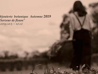 """Bijouterie botanique Automne 2019 """"Serveur de fleurs"""""""