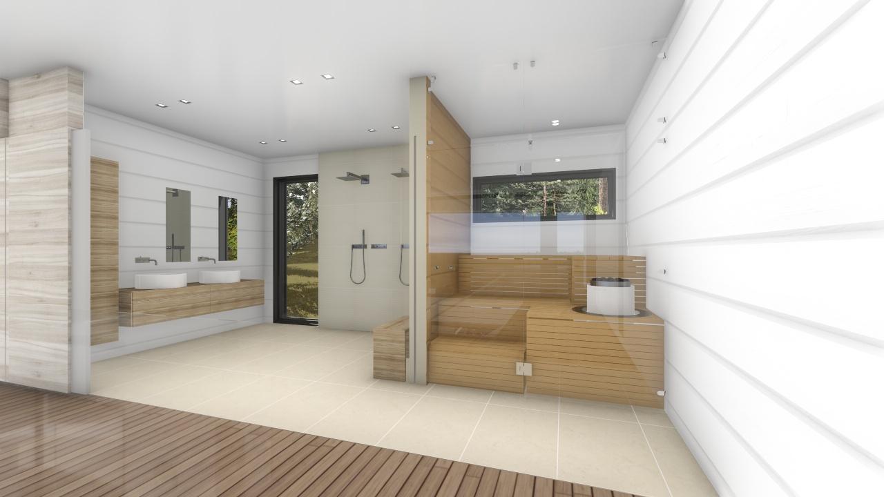 B kylpyhuone ja sauna