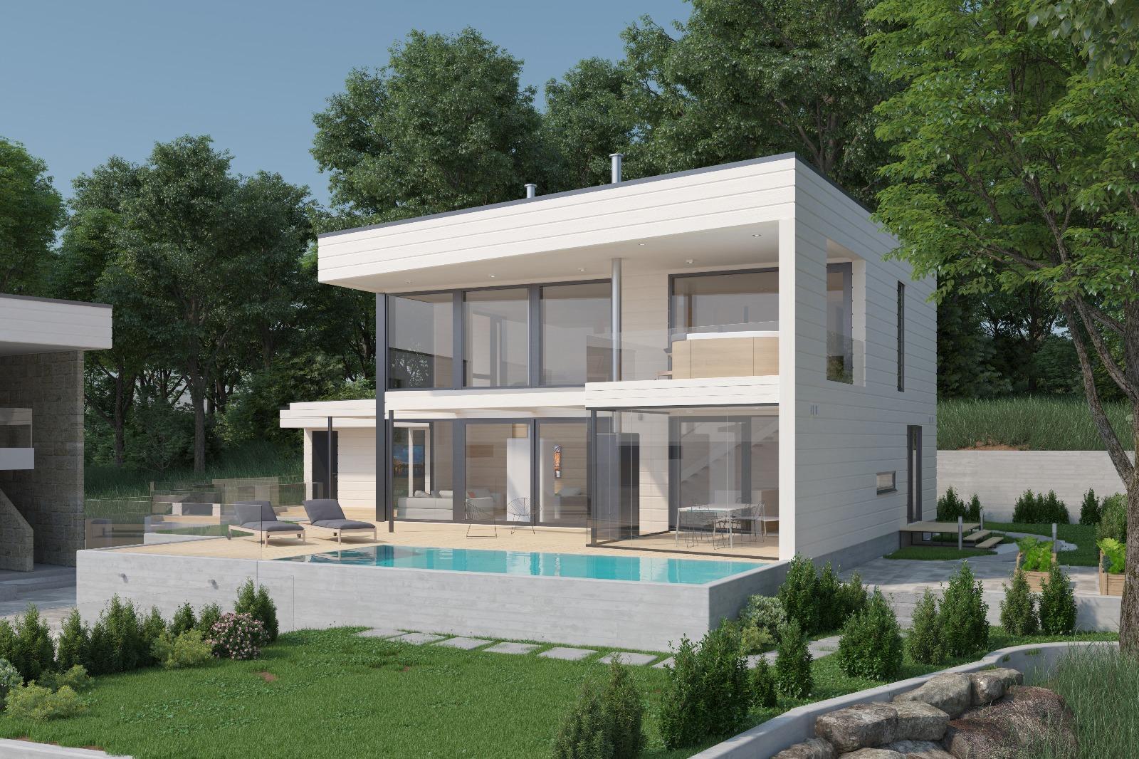 Talo B kaakosta, valkoinen versio