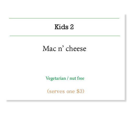 Classic mac n cheese