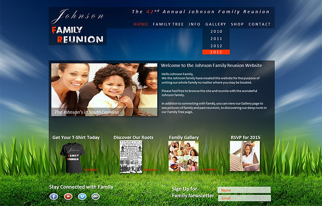 Get Your Family Reunion Website Today