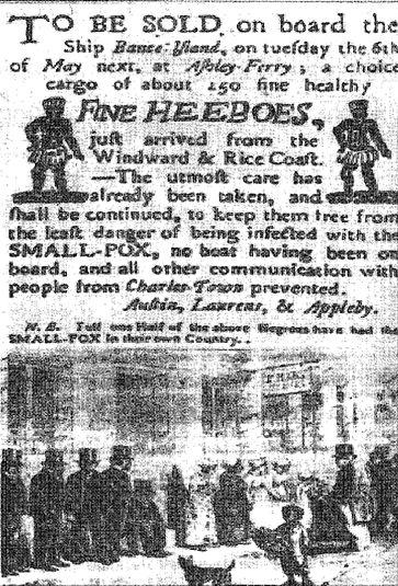 American Slave Poster Selling Hebrews (Heeboes)