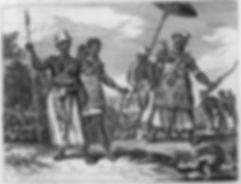 Judah in West Africa Wearing Fringes 1700's