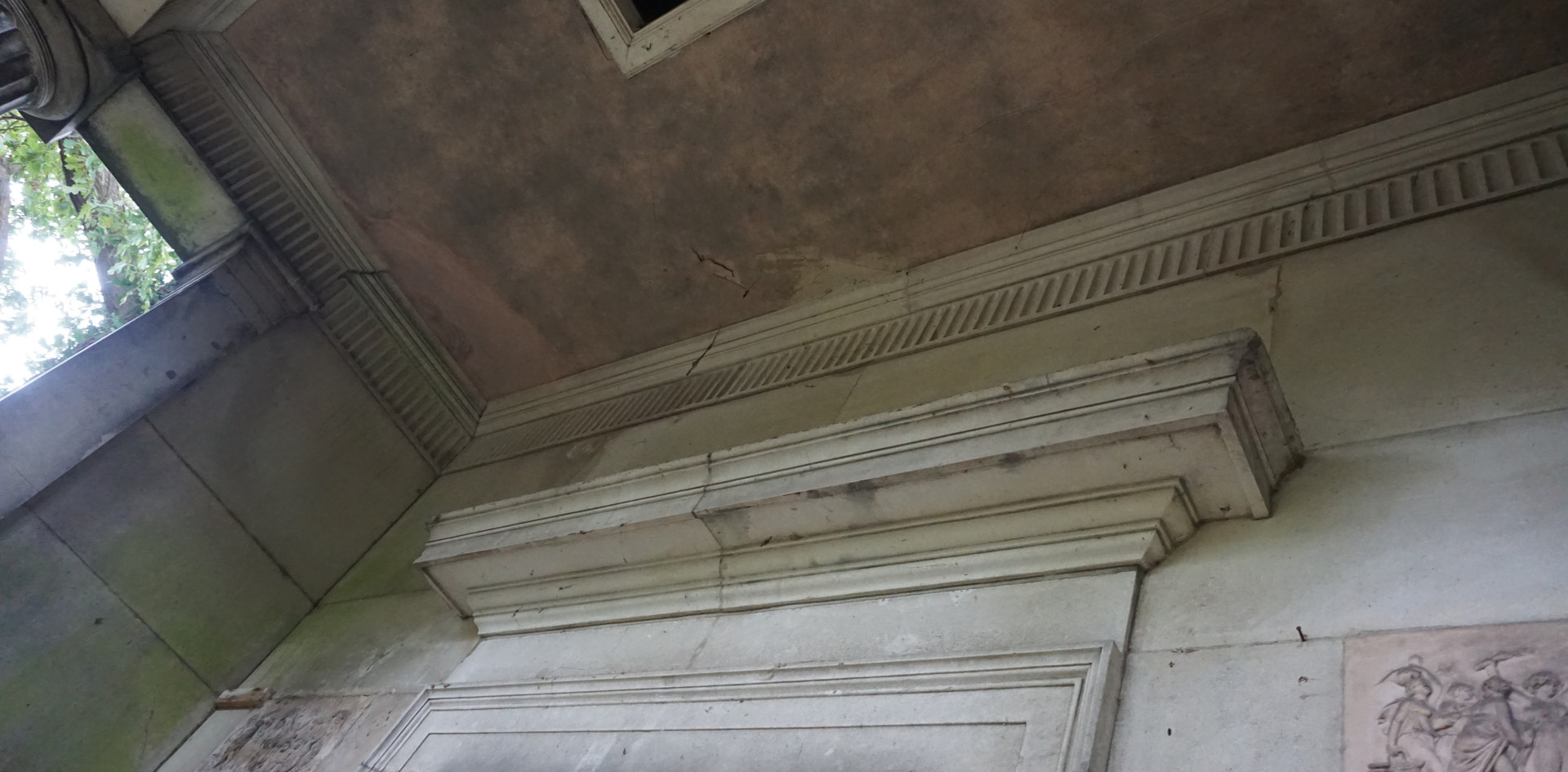 Above entrance