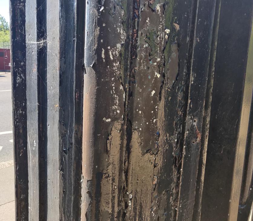 Split Paint on Piers .jpg