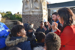 Pupils learn about Sir Christopher Wren's spire in Lewisham