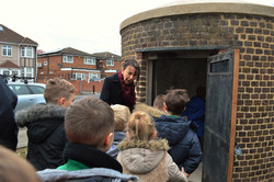 Children at Cranford Lock up