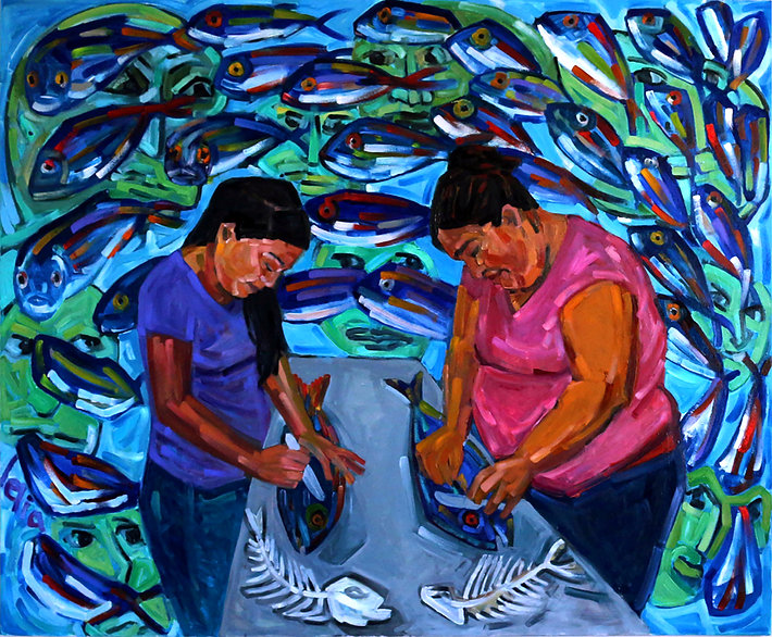 Lelia_Byron3_Fish Cleaners Rosa and Ruth