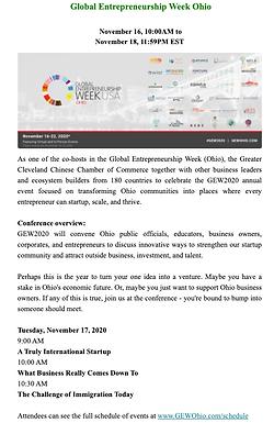 Global Entrepreneurship Week Ohio