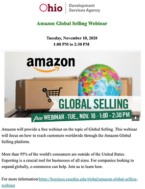 Amazon Global Selling Webinar