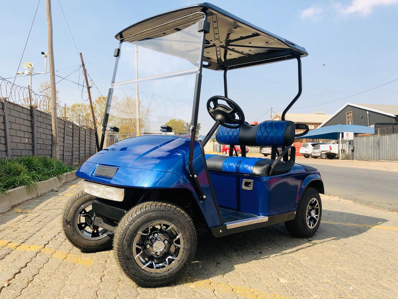 Simple blue golf cart