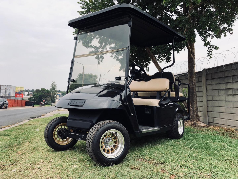 Standard black golf cart
