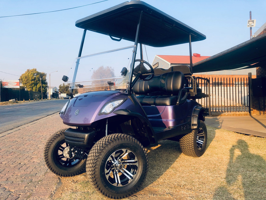 Purple Golf Cart