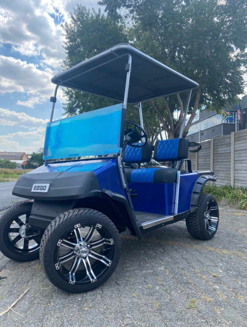 2 seater blue Cart