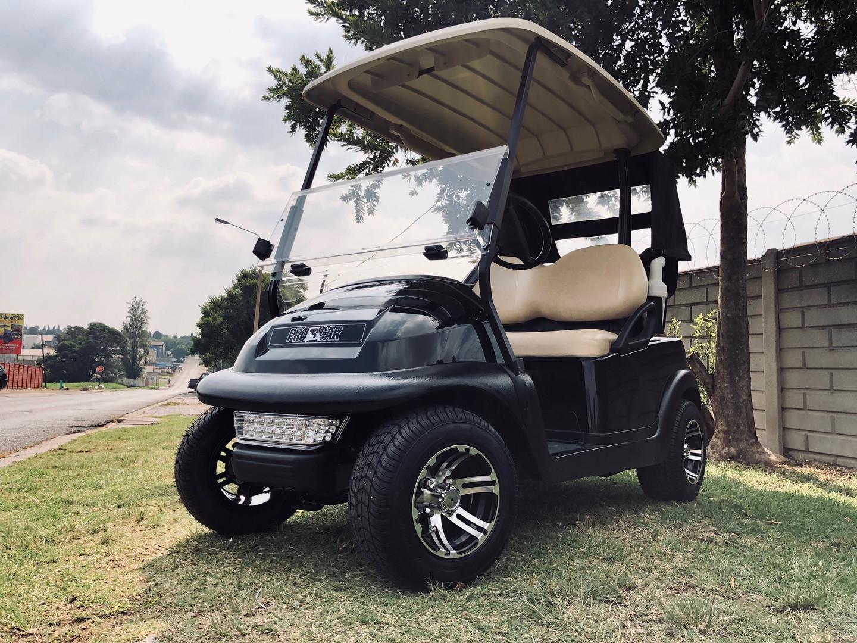 Plain black golf cart