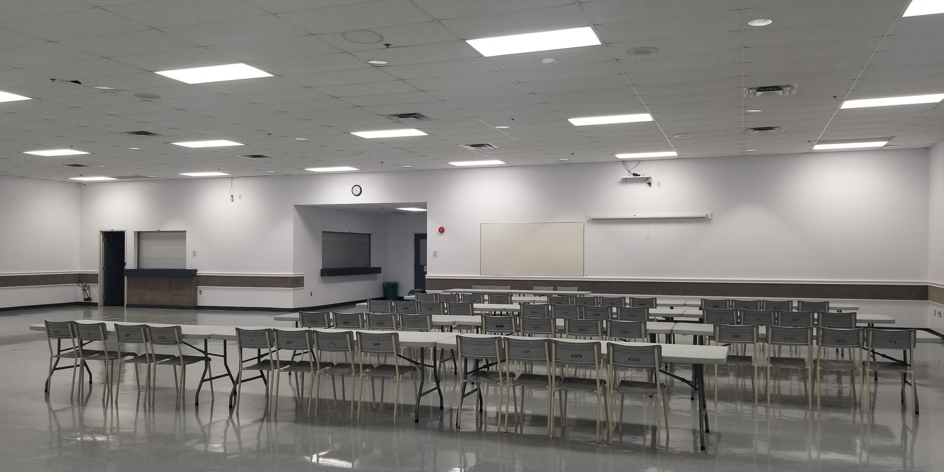 Auditorium set up for smaller group