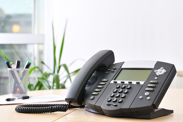 Advanced managerial VoIP phone on beech