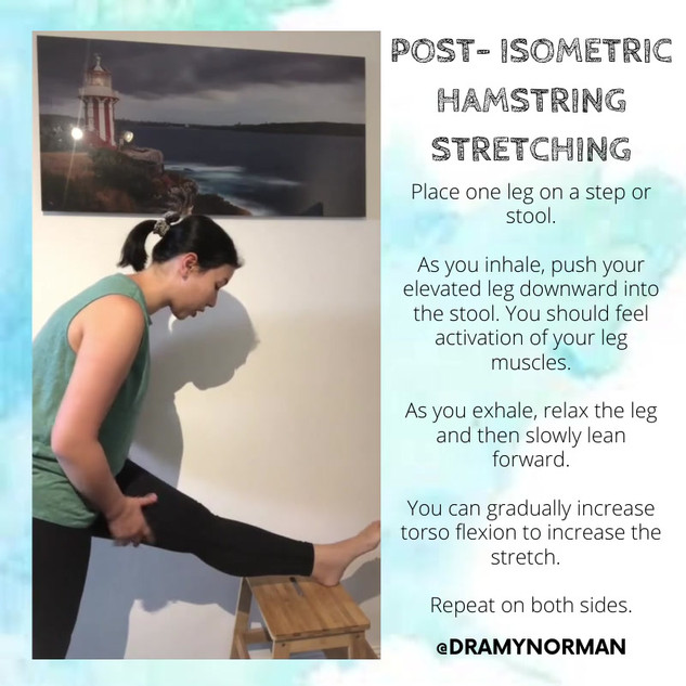 Post Isometric Hamstring Stretching