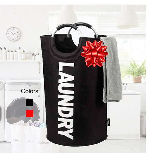 Tall Laundry Bag with Metal Handles
