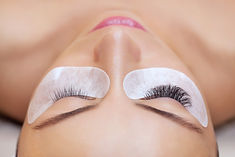 Eyelash removal procedure close up. Beau