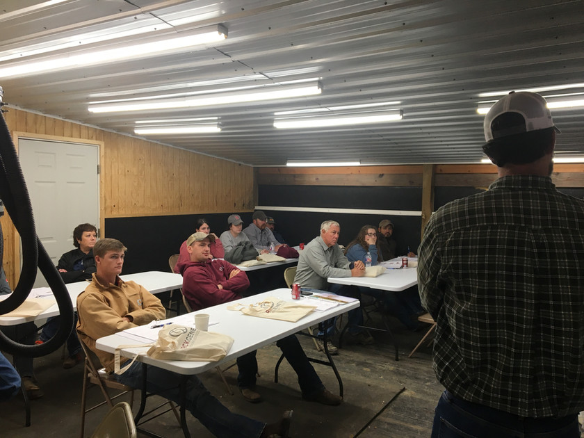 Ricky White leads our cattle AI training classroom session