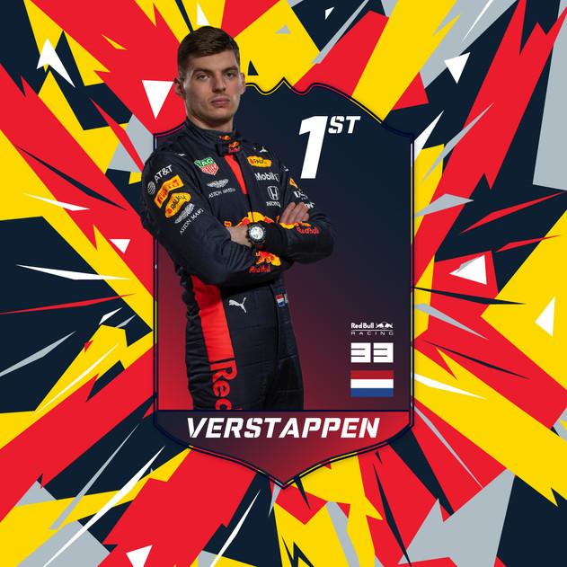 Verstappen Winner Card