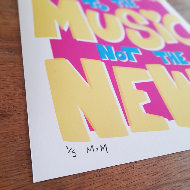 LISTEN TO THE MUSIC PRINT 2