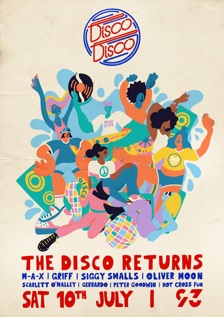 Disco Disco London Poster 2021