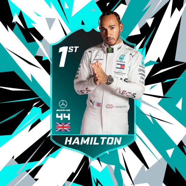 Lewis Hamilton Winner Card
