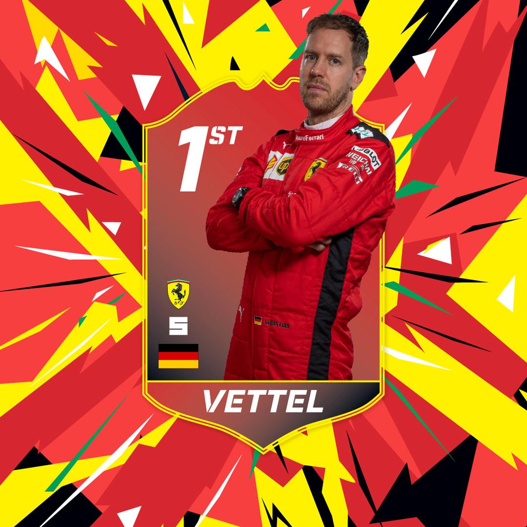 Seb Vettel Winner Card