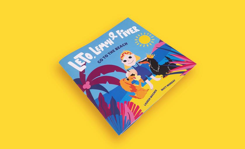 LET,LEMON & FIVER CHILDREN'S BOOK COVER