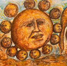 Sol and his twelve disciples attended by Birthing Luna