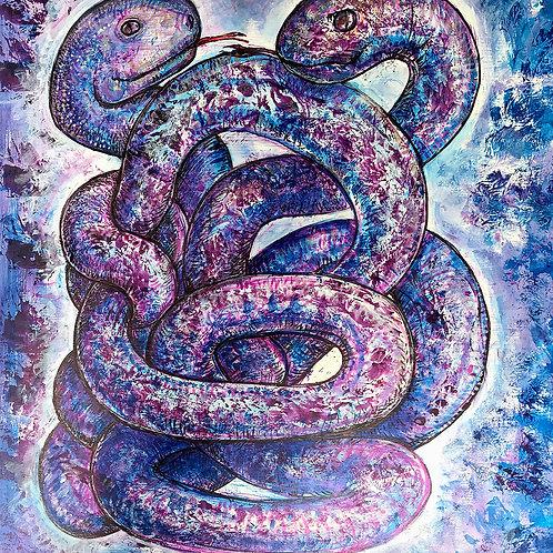 2-Headed Snake,  print
