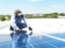 Reparación del panel solar