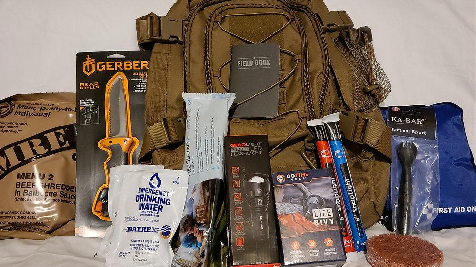 Tan Expandable Tactical Go Bag