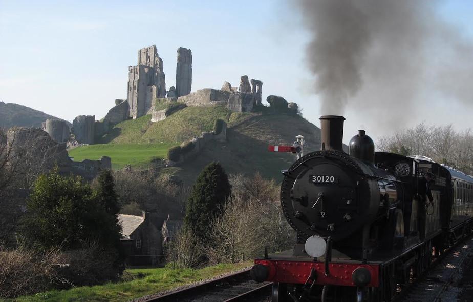Steam Train at Corfe Castle