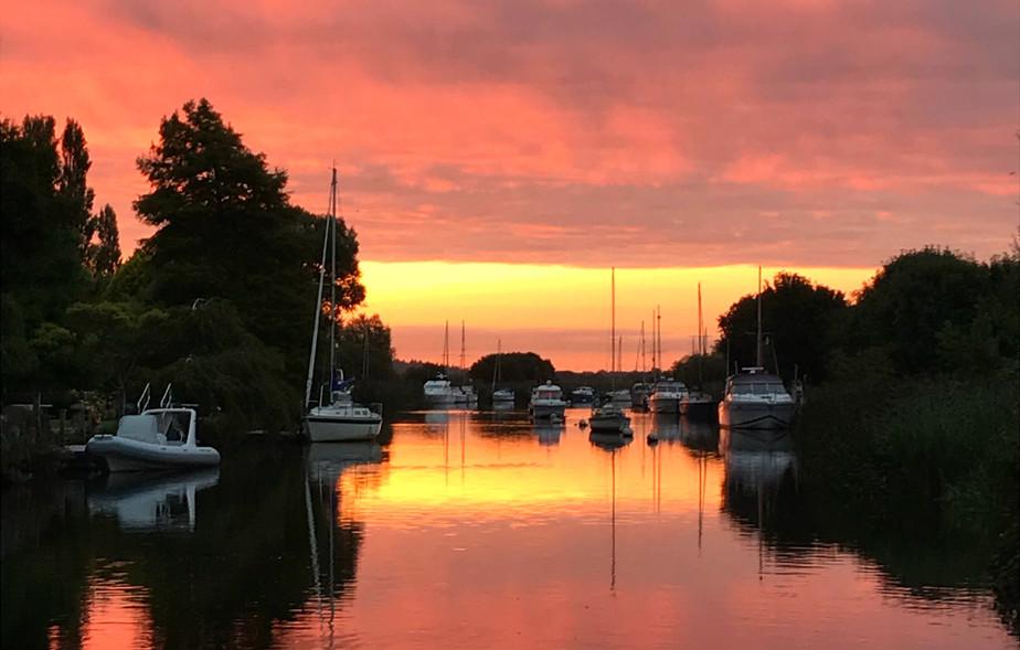 Sunrise on River Frome, Wareham